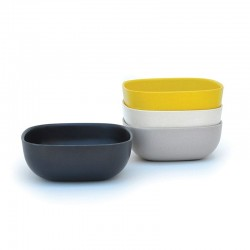 Large Bowls Set 15Cm - Gusto Assorted (white, Stone, Black, Lemon) - Biobu BIOBU EKB34581