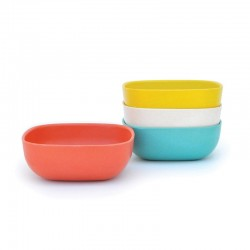 Large Bowls Set 15Cm - Gusto Assorted (persimmon, White, Lagoon, Lemon) - Biobu