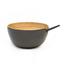 Serving Bowl Medium - Riso Smoke - Ekobo Handmade