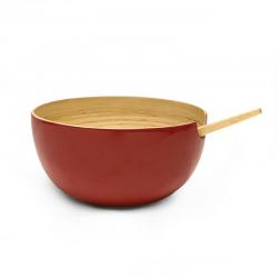 Taça de Servir Média - Riso Vermelho - Ekobo Handmade