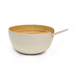 Taça de Servir Média - Riso Branco - Ekobo Handmade