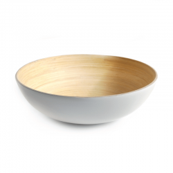 Serving Bowl Large - Medio White - Ekobo Handmade