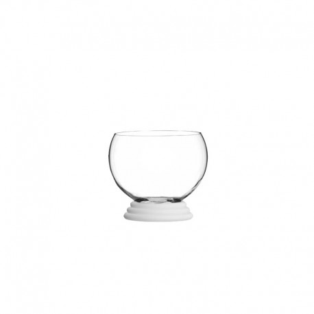 Glass With Ring - Sfera Transparent And White - Italesse ITALESSE ITL33306SW