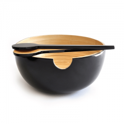 Salad Bowl - Calimero Black - Ekobo