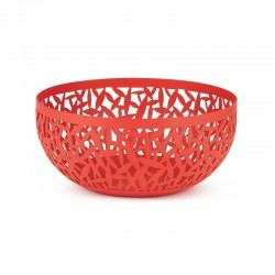 Open-Work Fruit Bowl Ø21Cm - Cactus! Red - Alessi