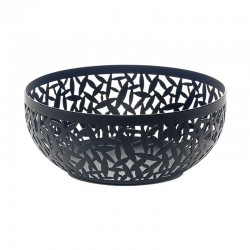 Open-Work Fruit Bowl Ø29Cm - Cactus! Black - Alessi