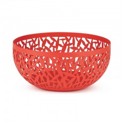 Open-Work Fruit Bowl Ø29Cm - Cactus! Red - Alessi
