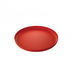 Round Tray Red - Extra Ordinary Metal - Alessi