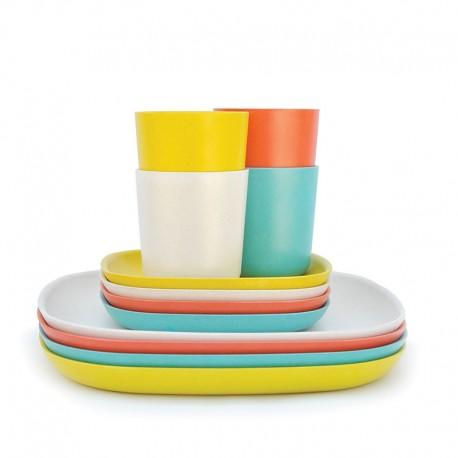 Lunch & Dinner Set - Gusto Persimmon, White, Lagoon And Lemon - Biobu BIOBU EKB34321