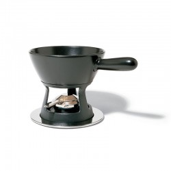 Fondue Set - Mami Silver And Black - Alessi ALESSI ALESSG56/260B