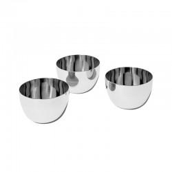 Set of 3 Fondue Bowls - Mami Silver - Alessi ALESSI ALESSG59