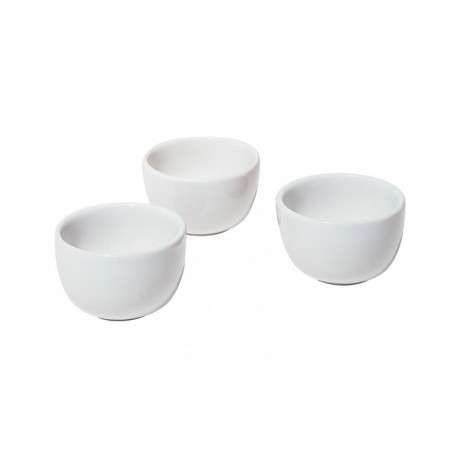 Conjunto de 3 Taças Fondue em Cerâmica - Mami Prata - Alessi ALESSI ALESSG60