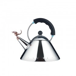 Kettle Preto - Tea Rex Steel, Copper And Black - Alessi
