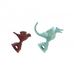 Set of 2 Whistles - 9093 Red And Light Green - Alessi