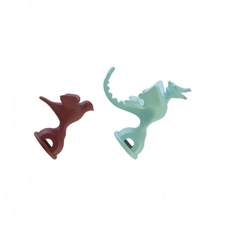 Set of 2 Whistles - 9093 Red And Light Green - Alessi ALESSI ALESMGWHS2