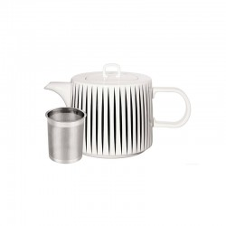 Teapot 1,25Lt - Muga Stripes White And Black - Asa Selection