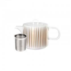 Teapot 1,25Lt - Muga Stripes Trésor White And Gold - Asa Selection ASA SELECTION ASA29370425