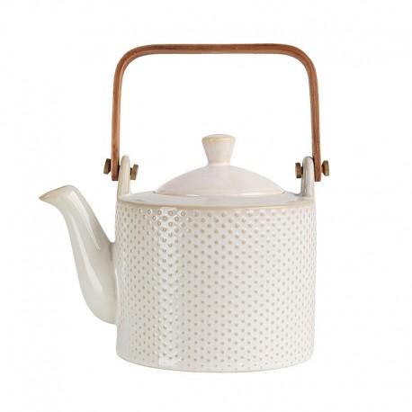 Tea Pot - Linna Piqué White - Asa Selection ASA SELECTION ASA90400071