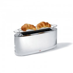 Toaster with Bun Warmer - SG68 White - Alessi ALESSI ALESSG68W