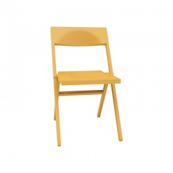 Folding and Stackable Chair Yellow – Piana - Alessi ALESSI ALESASPN1017