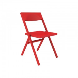 Folding and Stackable Chair Red – Piana - Alessi ALESSI ALESASPN3027