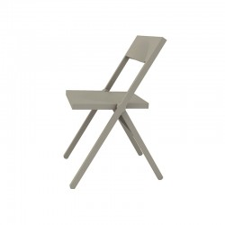Folding and Stackable Chair Grey – Piana - Alessi ALESSI ALESASPN7032