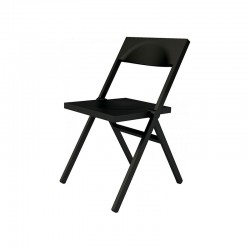 Folding and Stackable Chair Black – Piana - Alessi ALESSI ALESASPN9017