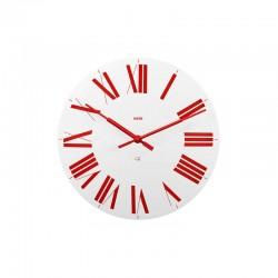 Relógio de Parede Branco e Vermelho – Firenze - Alessi ALESSI ALES12WR