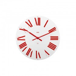 Wall Clock White/Red – Firenze White And Red - Alessi ALESSI ALES12WR