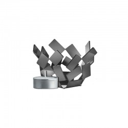 Tealight Holder Steel – La Stanza dello Scirocco Silver - Alessi