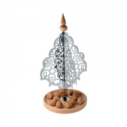 Tabletop Christmas Tree - Dressed for X-mas Steel And Wood - Alessi