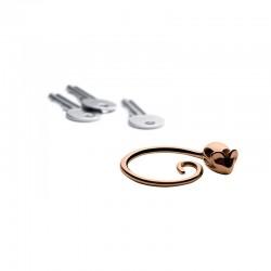 Porta-chaves Rosa Dourado – Pip - Alessi ALESSI ALESFGO02GP