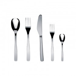 Cutlery Set 5 Pieces - Knifeforkspoon Steel - A Di Alessi