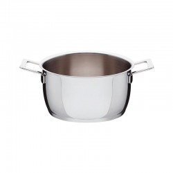 Casserole with Two Handles Ø20cm - Pots&Pans Steel - A Di Alessi