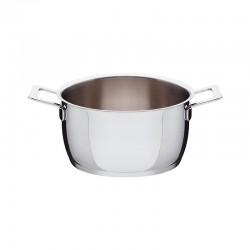 Tacho com Duas Pegas Ø20cm - Pots&Pans Inox - A Di Alessi A DI ALESSI AALEAJM101/20