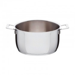Casserole with Two Handles Ø24cm - Pots&Pans Steel - A Di Alessi