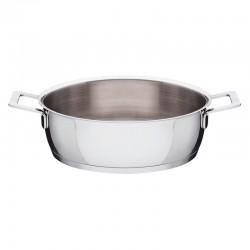 Low Casserole Ø28cm - Pots&Pans Steel - A Di Alessi