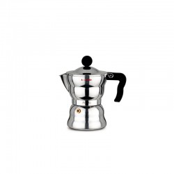 Espresso Coffee Maker 150ml - Moka Alessi Steel - A Di Alessi