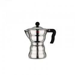 Cafetera para Café Exprés. 300ml - Moka Alessi Acero - A Di Alessi