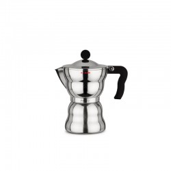 Espresso Coffee Maker 300ml - Moka Alessi Steel - A Di Alessi