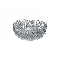 Round Wire Basket Ø24cm - Nuvem Silver - A Di Alessi