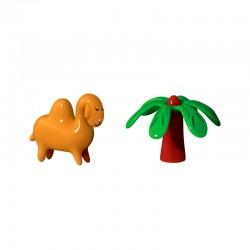 Conjunto de 2 Figuras - Dario Dromedario & Palmita - A Di Alessi