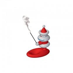 Figura/Queimador de Incenso - Natalincensino Branco E Vermelho - A Di Alessi