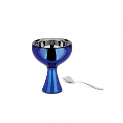 Ice Cream Bowl And Spoon Blue - Big Love - A Di Alessi A DI ALESSI AALEAMMI01SAZ