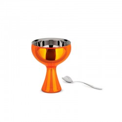 Ice Cream Bowl And Spoon Orange - Big Love - A Di Alessi