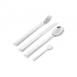 Cutlery Set 24 Pieces - Rundes Modell Steel - Officina Alessi OFFICINA ALESSI OALEJH01S24