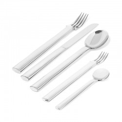Cutlery Set 5 Pieces - Rundes Modell Steel - Officina Alessi