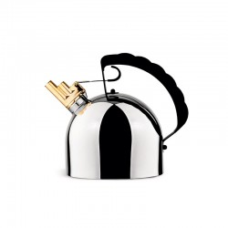Kettle - 9091 Steel And Black - Officina Alessi OFFICINA ALESSI OALE9091FM