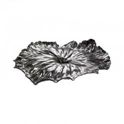 Centro de Mesa - A Lotus Leaf Acero - Officina Alessi