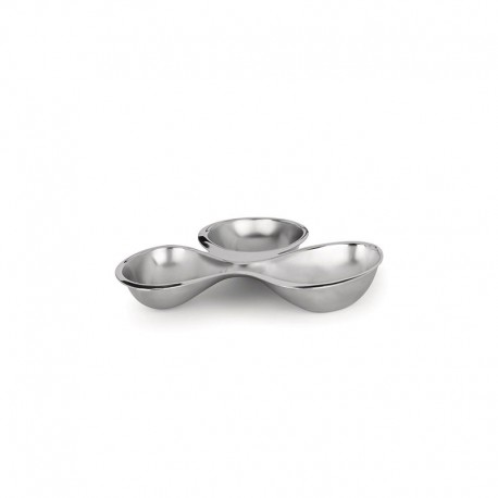 Three-section Hors-d'oeuvre Set – Babyboop Silver - Alessi ALESSI ALESRA03